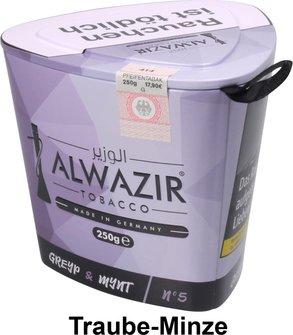 "WP-Tabak Alwazir ""Greyp + Mynt No.5"" 250gr-Dose"