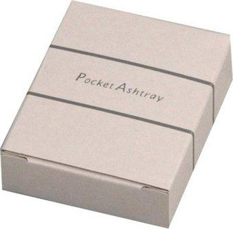 Empty single box for pocket ashtrays