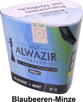 "WP-Tabak Alwazir ""Bluebarry + Mynt No.6"" 250gr-Dose"