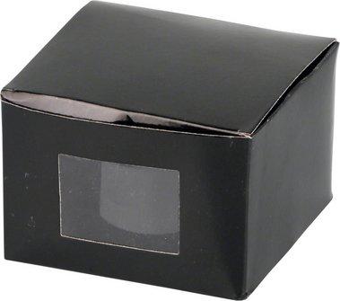 Drehascher chrom/schwarz glänzend 11cm
