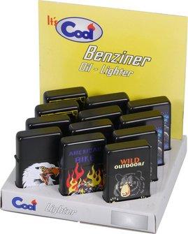 COOL Benziner schwarz/farbig bedruckt, sortierte Dekore