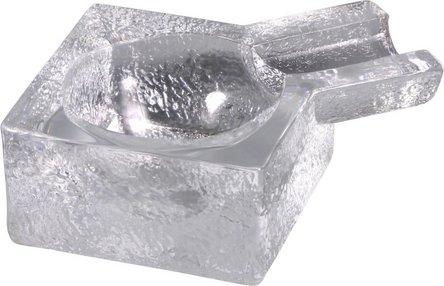 Cigarrenascher Glas transparent eckig 8.5cm/1 Ablage