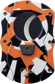 """COLIBRI Cig.abschneider """"Cut Camo"""" orange/Camouflage  25mm"""