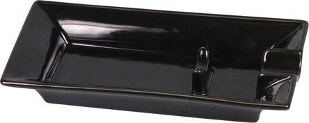 Cigarrenascher Keramik schwarz  1 Ablage