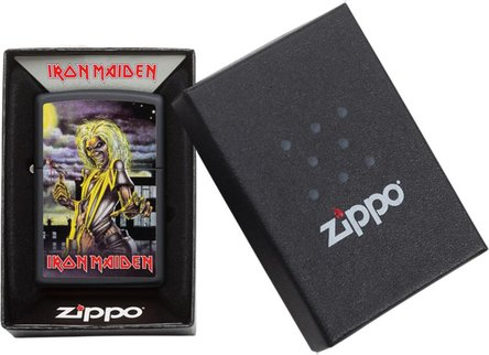 "Org.ZIPPO schwarz color ""Iron Maiden-Killers"" 60004458"