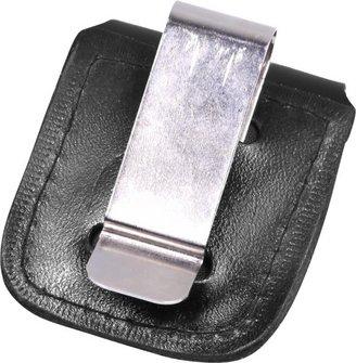 Ledertäschchen für Benziner schwarz mit Clip