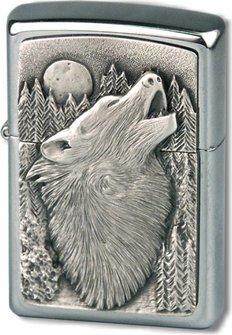 "Org.ZIPPO cr.geb.Plakette ""Wolf""      Eg"