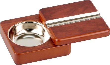 Cigarrenascher Rosewood schwenkbar mit 1 Ablage