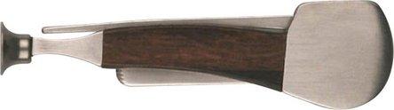Pfeifenmesser Pfeifenform chrom matt/Holz
