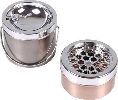 Kipp- und Spiralascher metallfarbig sortiert  9cm