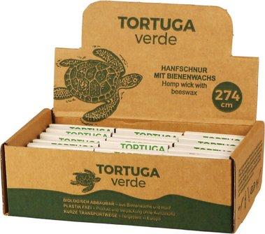 Tortuga verde Anzündschnur aus Hanf und Bienenwachs