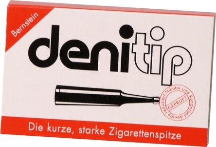 DENI Tip Einweg-Zigarettenspitze bernsteinf. Inh.6St