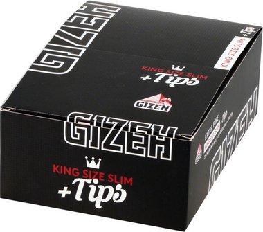 GIZEH BLACK Extra Fine King Size Slim + Filter-Tips je 26Hf.