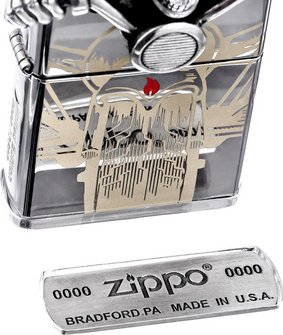 "Org.ZIPPO chrom poliert Emblem ""Ghost Rider"" 2005399"