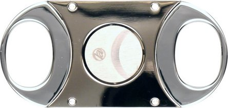 Cigarren-Abschneider gun/chrom pol. 22mm Schnitt/KS-Box