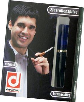 "DENICOTEA Zigarettenspitze Standard ""Marine"" blau"