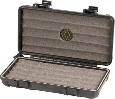 """Cigar Case """"S3"""" Acryl schwarz für 5 Cigarren"""