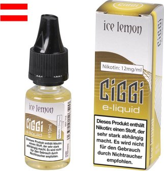 AT CIGGI Liquid Ice Lemon 12mg/ml Nikotin 10 ml