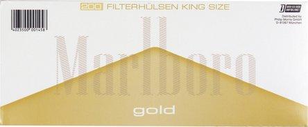 """MARLBORO GOLD """"200"""" Zigtt.-Hülsen (5 Schachteln)"""