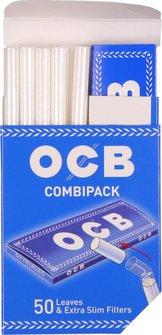 OCB Combipack Inh: 1Hf blau 50+50 Extra Slim Filter (je20)