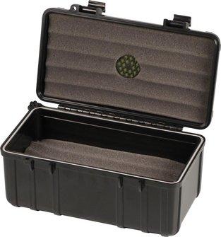 """Cigar Case """"S3"""" Acryl schwarz für ca.10-15 Cigarren"""