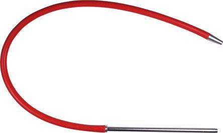 Silikonschlauch rot mit Mundstück Alu silber 150cm