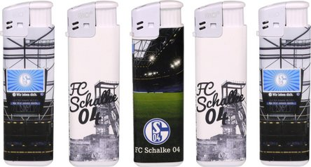 "Mehrweg-Piezo-Fzg. ""FC Schalke 04"" belabelt"