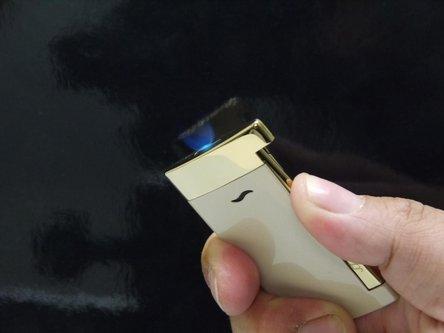 DUPONT SLIM 7 beige Lack/gold 027706 Jet