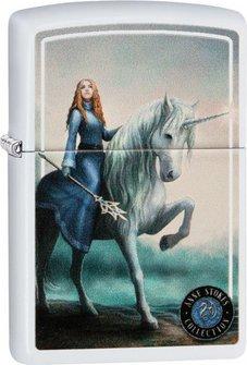 "Org.ZIPPO weiß color ""Anne Stokes Unicorn"" 60004496"