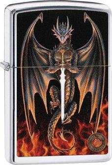 "Org.ZIPPO cr.pol.color ""Anne Stokes Dragon/Sword"" 60004497"
