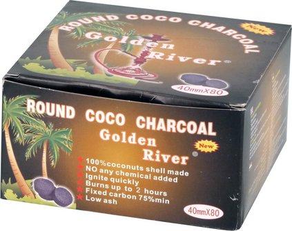 "Wasserpfeifenkohle ""Golden River Coco"" 40mm / 10 Tabletten"