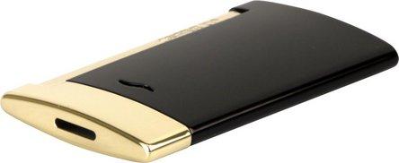 DUPONT SLIM 7 schwarz Lack/gold 027708 Jet