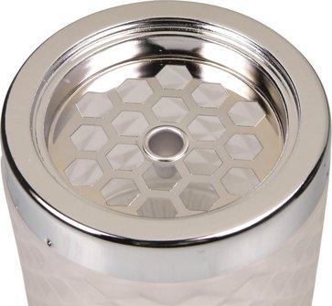 Windascher chrom/Glas sortiert Ø 9cm