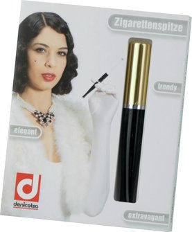 DENICOTEA Zigarettenspitze Automatic goldin/Diamantschnitt L