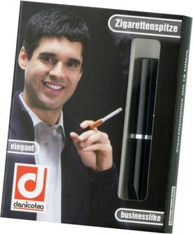 DENICOTEA Zigarettenspitze Automatic schwarz Sattel