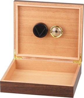 Humidor Walnuss Dekor für ca. 15-20 Cigarren
