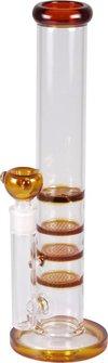 Bong Glas gerade 36cm, Ø 51mm, 18.8er Kopf amber