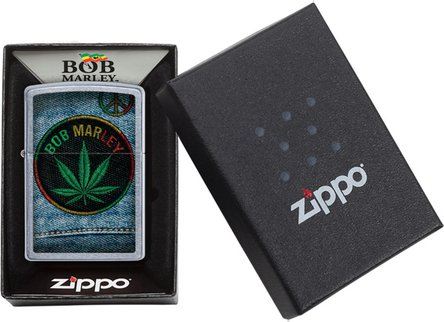 "Org.ZIPPO str.cr.color ""Bob Marley Jeans Sticker"" 60004517"