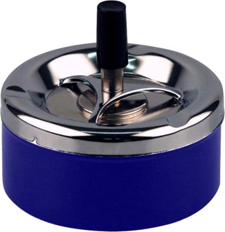 Drehascher chrom/blau glänzend      11cm