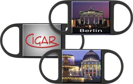 """Cigarren-Abschneider """"TOP CUT"""" Edelstahl mit Sticker ......."""