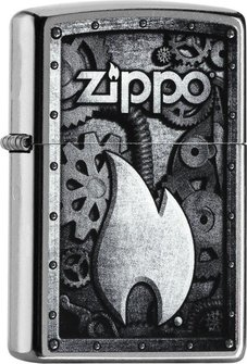 "Org.ZIPPO street cr. col. ""Machine/Flame"" 60000937"