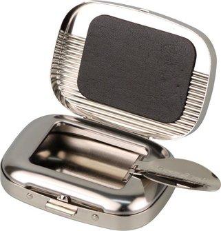 Taschenascher rechteckig nickel poliert