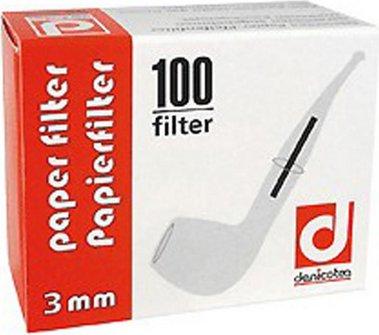 DENICOTEA Papierfilter 3mm Inhalt 100 Filter