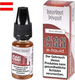 AT CIGGI Liquid Hazelnut Bisquit ohne Nikotin 10 ml