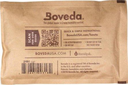 "Boveda Humidipak 2-way Humidifer groß ""62"" 13.4 x 8.7 cm"