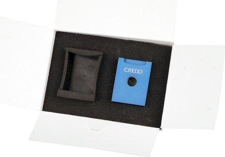 CREDO Cigarren Rundcutter eckig Aluminium 3-in-1 blau