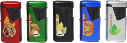 "ATOMIC Jet-Feuerzeug Twin Metallic ""3D Cigar"" sortiert"