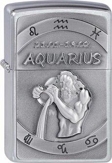 """Org.ZIPPO cr. geb. Plakette """"Aquarius"""" 2002070"""