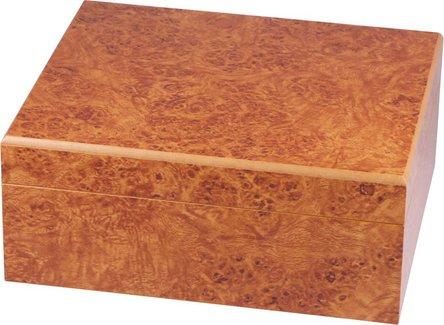 Humidor-Set Wurzelholz für ca. 40 Cigarren
