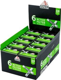 Gizeh Black Active Filter 6mm, Inhalt 34 Filter